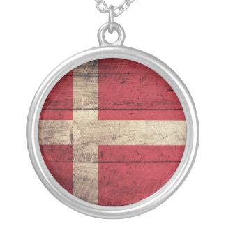 Bandeira de madeira velha de Dinamarca Bijuterias