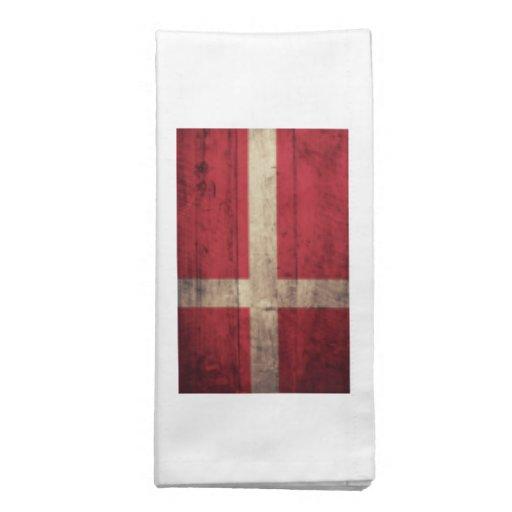 Bandeira de madeira velha de Dinamarca Guardanapo