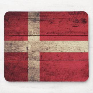 Bandeira de madeira velha de Dinamarca Mouse Pads