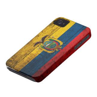 Bandeira de madeira velha de Equador Capas Para iPhone 4 Case-Mate