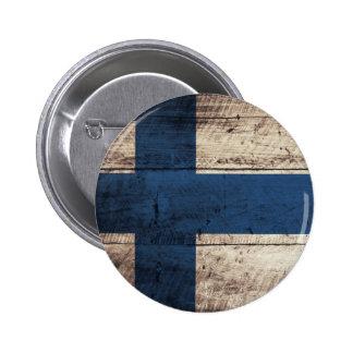 Bandeira de madeira velha de Finlandia Botons