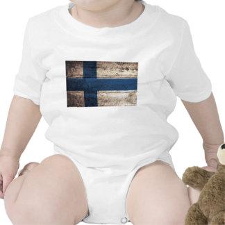 Bandeira de madeira velha de Finlandia Babadores
