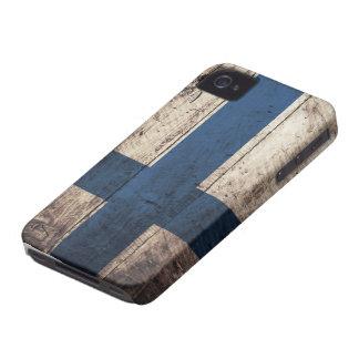 Bandeira de madeira velha de Finlandia Capinhas iPhone 4