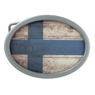 Bandeira de madeira velha de Finlandia