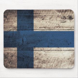 Bandeira de madeira velha de Finlandia Mousepads
