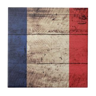 Bandeira de madeira velha de France; Azulejos De Cerâmica