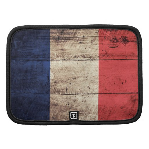 Bandeira de madeira velha de France Organizador