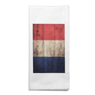 Bandeira de madeira velha de France Guardanapos De Pano