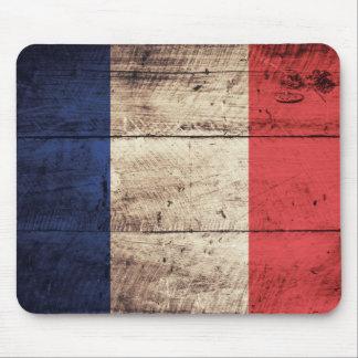 Bandeira de madeira velha de France Mouse Pads