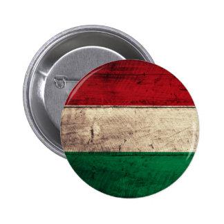 Bandeira de madeira velha de Hungria Pins