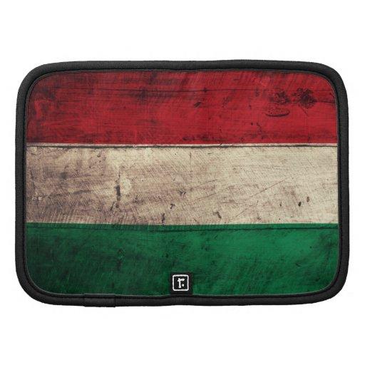 Bandeira de madeira velha de Hungria Organizadores