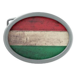 Bandeira de madeira velha de Hungria