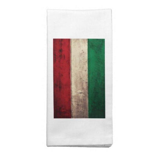 Bandeira de madeira velha de Hungria Guardanapos