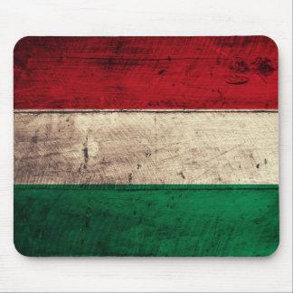 Bandeira de madeira velha de Hungria Mousepad