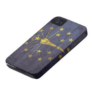 Bandeira de madeira velha de Indiana; Capa Para iPhone 4 Case-Mate