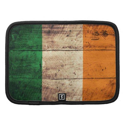Bandeira de madeira velha de Ireland Agenda