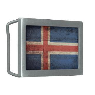 Bandeira de madeira velha de Islândia
