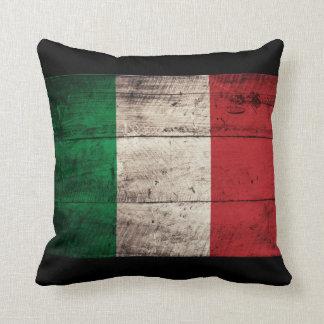 Bandeira de madeira velha de Italia Travesseiros