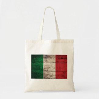 Bandeira de madeira velha de Italia Bolsas