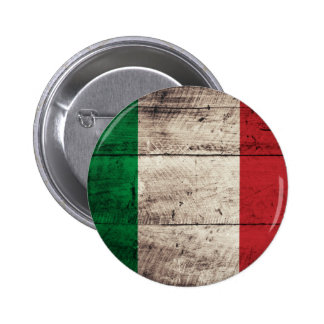 Bandeira de madeira velha de Italia Boton