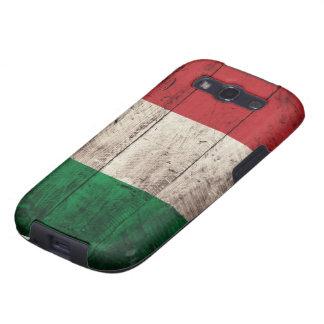 Bandeira de madeira velha de Italia Capinhas Samsung Galaxy S3