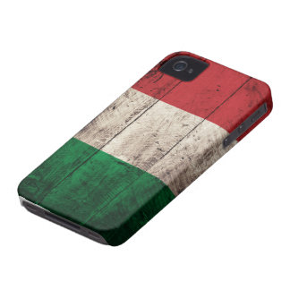 Bandeira de madeira velha de Italia Capinhas iPhone 4