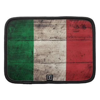 Bandeira de madeira velha de Italia Agenda