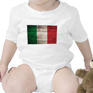 Bandeira de madeira velha de Italia Macacãozinho
