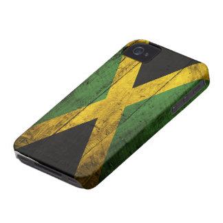 Bandeira de madeira velha de Jamaica Capas Para iPhone 4 Case-Mate