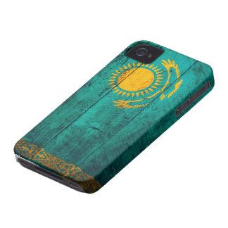 Bandeira de madeira velha de Kazakhstan Capinhas iPhone 4