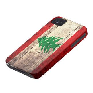Bandeira de madeira velha de Labanon Capa Para iPhone