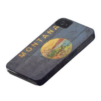 Bandeira de madeira velha de Montana; Capas Para iPhone 4 Case-Mate