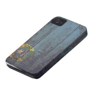Bandeira de madeira velha de Nevada; Capinha iPhone 4