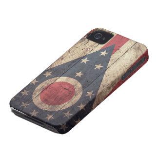 Bandeira de madeira velha de Ohio; Capinha iPhone 4