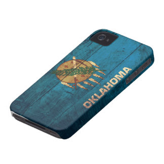 Bandeira de madeira velha de Oklahoma; Capas Para iPhone 4 Case-Mate