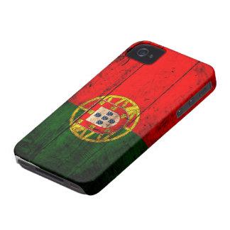 Bandeira de madeira velha de Portugal Capinha iPhone 4