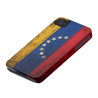Bandeira de madeira velha de Venezuela Capa Para iPhone 4 Case-Mate