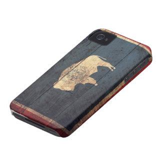 Bandeira de madeira velha de Wyoming Capinhas iPhone 4