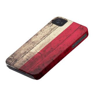 Bandeira de madeira velha do Polônia Capa Para iPhone 4 Case-Mate