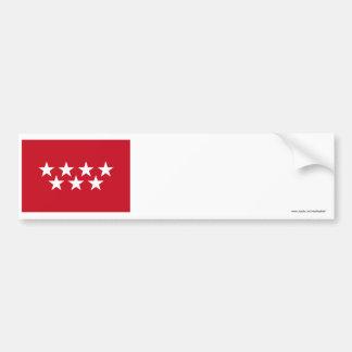 Bandeira de Madrid Adesivo Para Carro