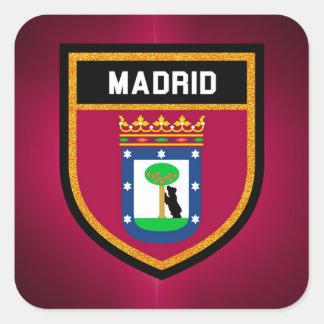 Bandeira de Madrid Adesivo Quadrado