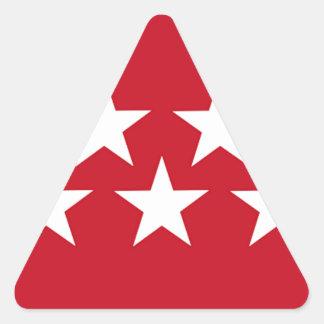 Bandeira de Madrid (espanha) Adesivo Triangular