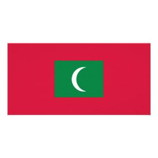 Bandeira de Maldives Cartão Com Foto