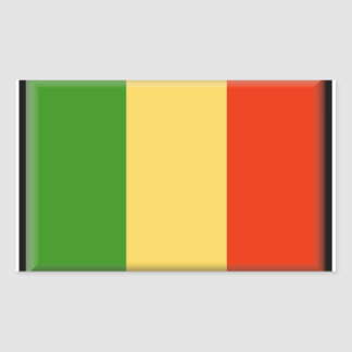 Bandeira de Mali Adesivo Retangular