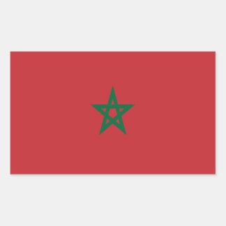 Bandeira de Marrocos Adesivo Retangular
