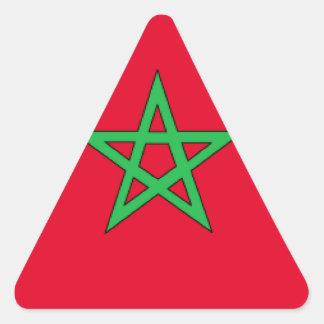 Bandeira de Marrocos Adesivo Triangular
