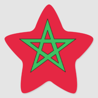 Bandeira de Marrocos Adesivos Estrelas