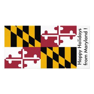 Bandeira de Maryland boas festas dos EUA Cartões Com Foto