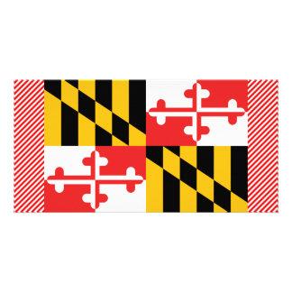 Bandeira de Maryland Cartão Com Foto Personalizado