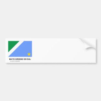 Bandeira de Mato Grosso do Sul, Brasil Adesivo Para Carro